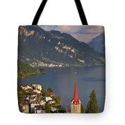 Weggis Switzerland Tote Bag