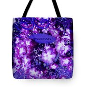 Welcome Flowers In Purple Tote Bag