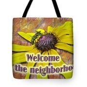 Welcome New Neighbor Card - Bee And Black-eyed Susan Tote Bag