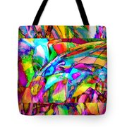 Welcome To My World Triptych Tote Bag
