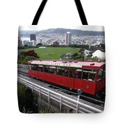 Tram Car Viewpoint - Wellington, New Zealand Tote Bag