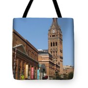 Wells Street Theater District And City Hall Tote Bag