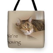 We're Moving Notification Greeting Card - Lily The Cat Tote Bag