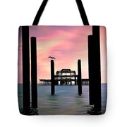 West Pier Silhouette Tote Bag