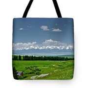 Westerly View Of The Bridger Mountains Tote Bag