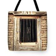 Western Jail House Door Tote Bag