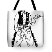 Western Outlaw Tote Bag