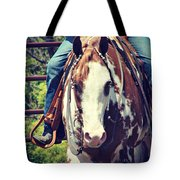 Western Paint Horse Tote Bag