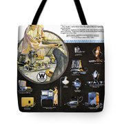 Westinghouse Ad, 1925 Tote Bag by Granger