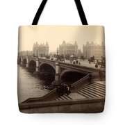 Westminster Bridge - London - C 1887 Tote Bag