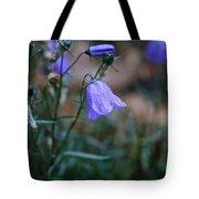 Wet Bellflower Tote Bag