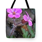 Wet Geranium  Tote Bag