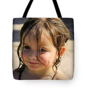 Wet Holly Tote Bag