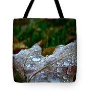 Wet Leaf Tote Bag