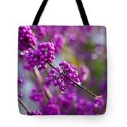 Wet Purple Tote Bag