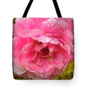 Wet Rose Tote Bag