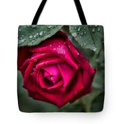 Wet Weather Rose Tote Bag