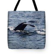 Whale Dive Tote Bag