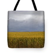 Wheat Field And Storm Tote Bag