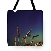 Wheat Field At Night Under The Moon Tote Bag