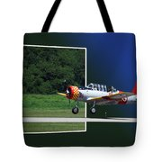 Wheels Down Open Canopy Tote Bag