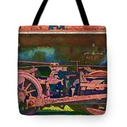 Wheels Of An Old Vintage Train Engine No.1026 Tote Bag
