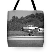 Wheels Up Black And White Tote Bag