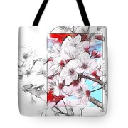 When The Almond Trees Are In Blossom  Tote Bag