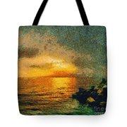 When The Sun Mets The Sea Tote Bag