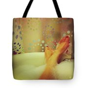 Where I Relax Tote Bag by Katie Cupcakes