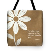Where Your Heart Is Tote Bag by Linda Woods