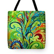Whirlygig Tree Tote Bag by Genevieve Esson