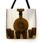 Whiskey Decanter In Sepia Tote Bag
