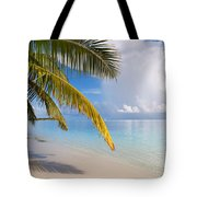 Whispering Palm On The Tropical Beach Tote Bag by Jenny Rainbow