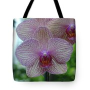 White And Pink Orchid Tote Bag