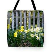 White And Yellow Daffodils Tote Bag