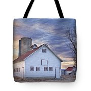 White Barn Sunrise Tote Bag