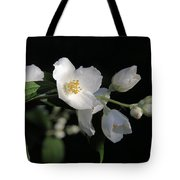 White Blossoms Tote Bag