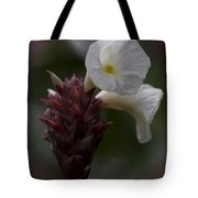 White Bromeliad Flowers Tote Bag