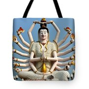 White Buddha Tote Bag