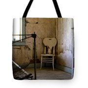 White Chair In The Bedroom Tote Bag by Lorraine Devon Wilke