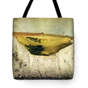 White Cliffs Lighthouse Tote Bag