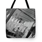 White  Cotton Laundry Blowing In The Wind Tote Bag