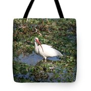 White Crane Tote Bag
