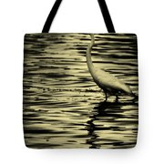 White Crane Tote Bag