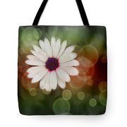 White Daisy In A Sunset Tote Bag