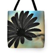 White Daisy Silhouette Tote Bag