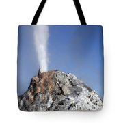 White Dome Geyser Erupting, Upper Tote Bag