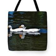 White Ducks At Sterne Park Tote Bag