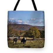 White Faced Cattle In Autumn Tote Bag